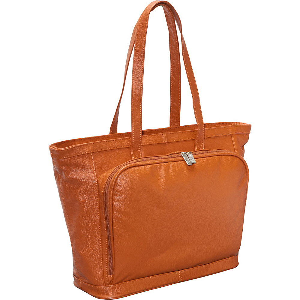 AmeriLeather Cosmopolitan Leather Tote - Sienna - Work Bags & Briefcases, Women's Business Bags