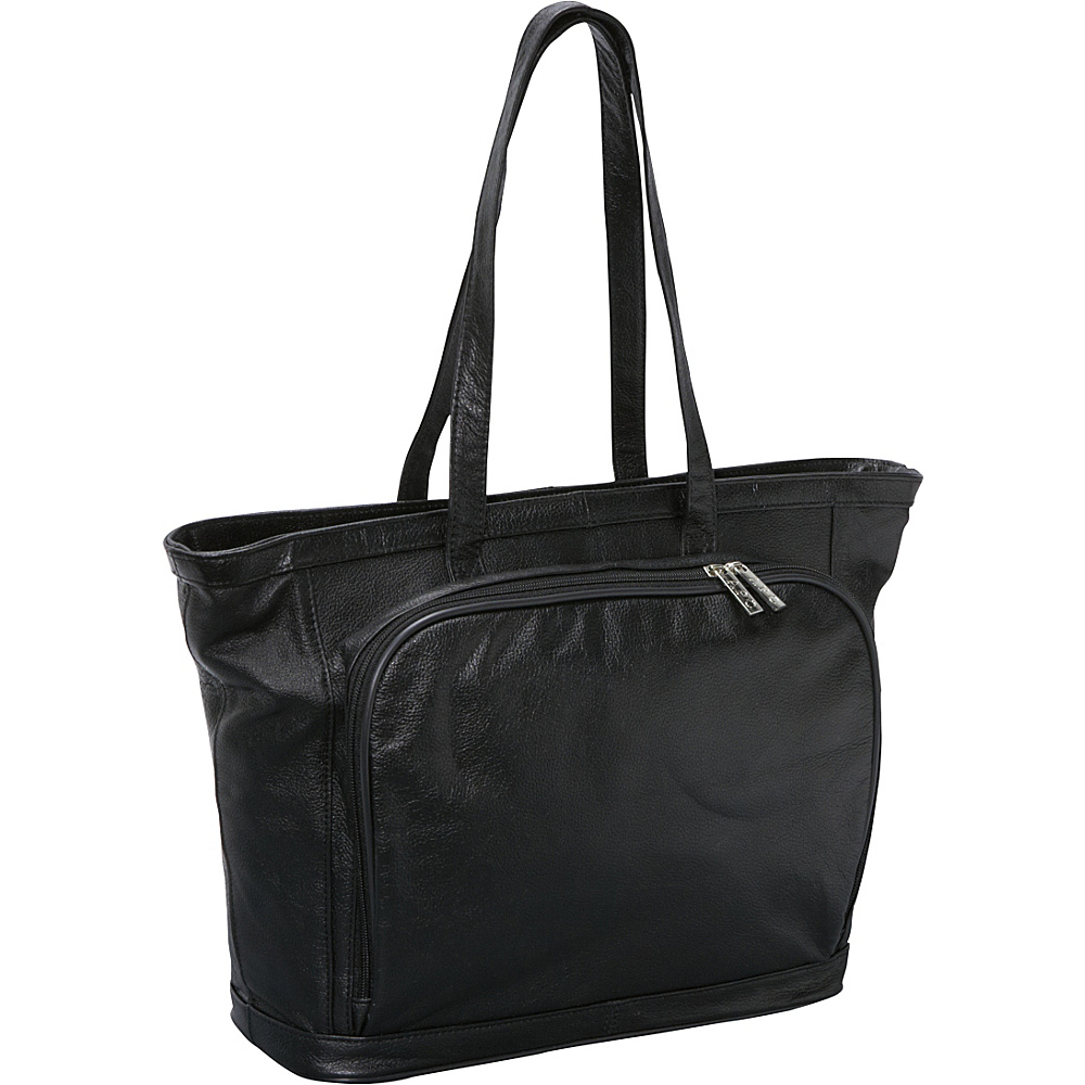 AmeriLeather Cosmopolitan Leather Tote Black - AmeriLeather Womens Business Bags - Work Bags & Briefcases, Women's Business Bags