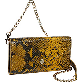 Python Embossed Wallet On A Chain Yellow