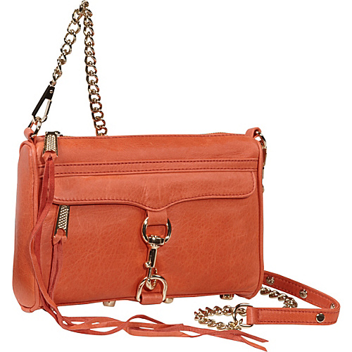 Rebecca Minkoff Mini MAC Clutch Orange - Rebecca Minkoff Designer Handbags