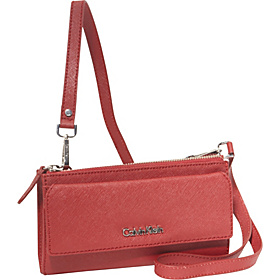 On My Corner Saffiano Leather Crossbody Crimson