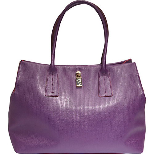 Furla Papermoon Medium Shopper Uva - Purple - Furla Designer Handbags