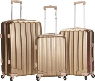 Rockland Luggage Santa FE 3-Piece Hardside Spinner Luggage Set Bronze - Rockland Luggage Luggage Sets