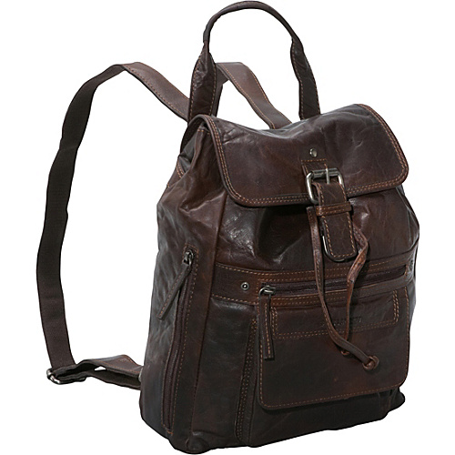 Jack Georges Spikes & Sparrow Collection Backpack Brown - Jack Georges Leather Handbags