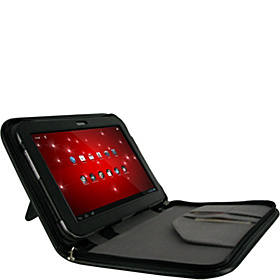 Executive Portfolio Leather Folio Cover for Toshiba Excite AT305 10.1 Black
