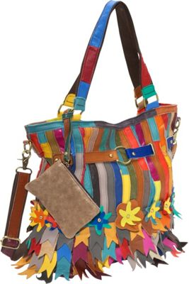 AmeriLeather Kylie Tote Rainbow - AmeriLeather Leather Handbags