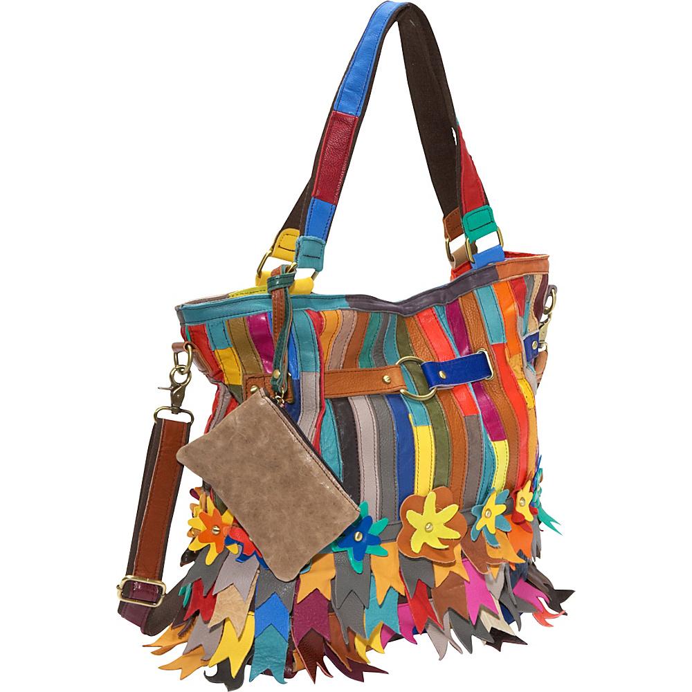 AmeriLeather Kylie Tote Rainbow - AmeriLeather Leather Handbags - Handbags, Leather Handbags