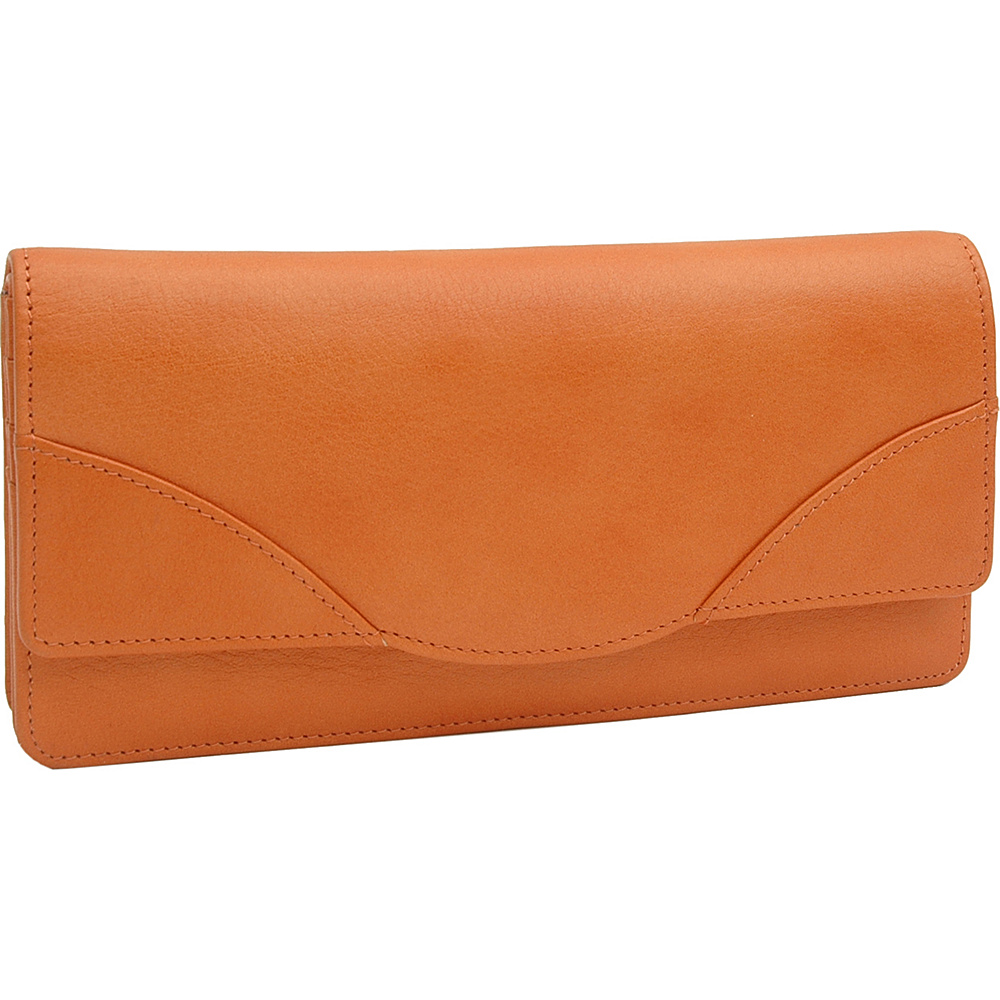 TUSK LTD Donington Napa French Clutch Tangerine TUSK LTD Women s Wallets