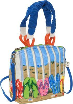 Sun 'N' Sand Coastal Flip Flop Multi - Sun 'N' Sand Fabric Handbags