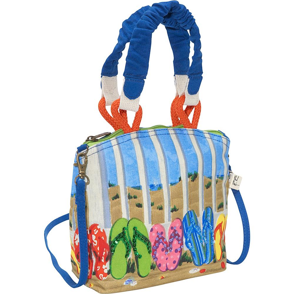 Sun N Sand Coastal Flip Flop Multi - Sun N Sand Fabric Handbags - Handbags, Fabric Handbags
