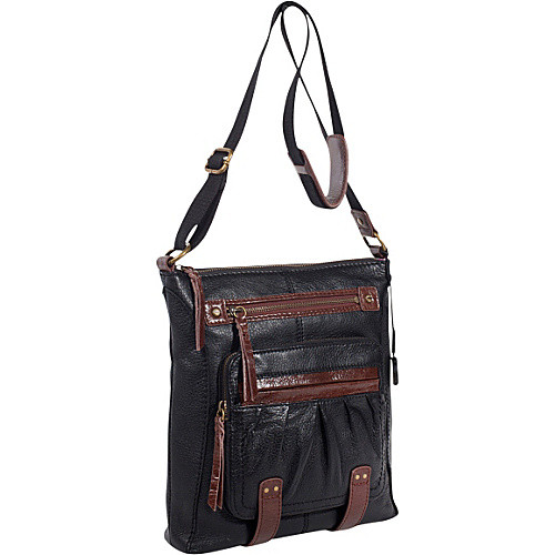 The Sak Iris Utility Crossbody Bag Black - The Sak Leather Handbags