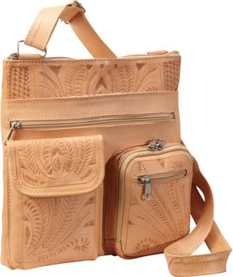 Ropin West Cross Over Bag Natural - Ropin West Leather Handbags