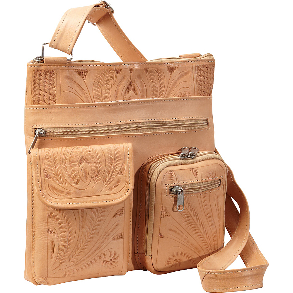 Ropin West Cross Over Bag Natural Ropin West Leather Handbags
