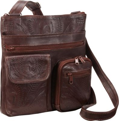 Ropin West Cross Over Bag Brown - Ropin West Leather Handbags