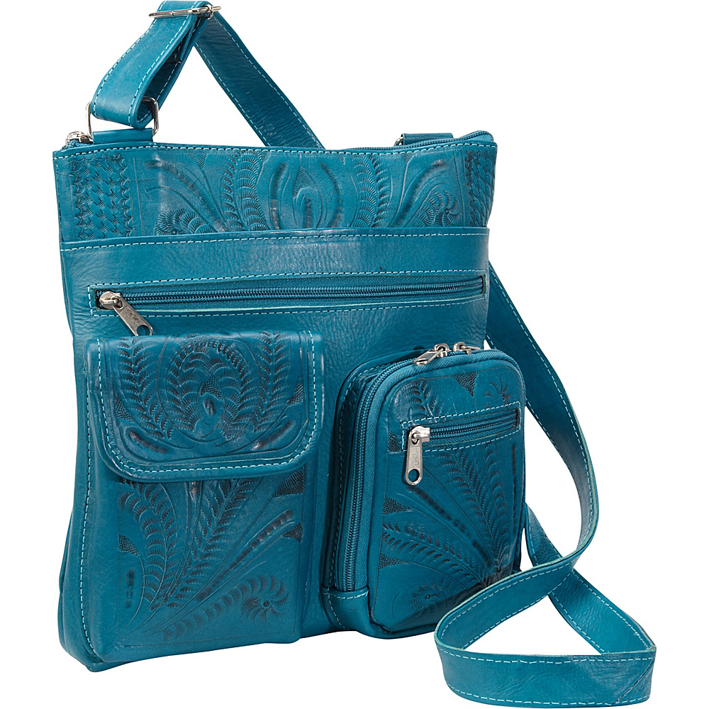 Ropin West Cross Over Bag Turquoise Ropin West Leather Handbags