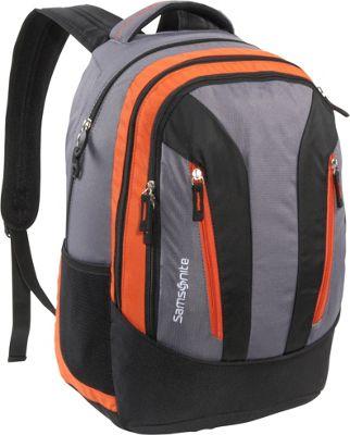 Samsonite Mansfield Backpack Orange Grey Samsonite Laptop Backpacks