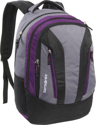 Samsonite Mansfield Backpack Purple Grey Samsonite Laptop Backpacks