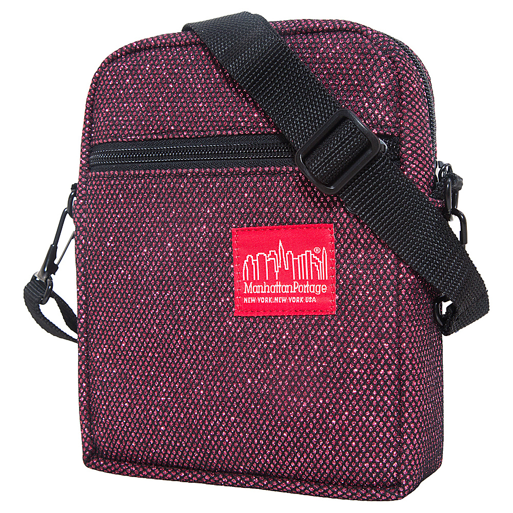 Manhattan Portage Midnight City Lights (SM) Burgundy - Manhattan Portage Fabric Handbags - Handbags, Fabric Handbags