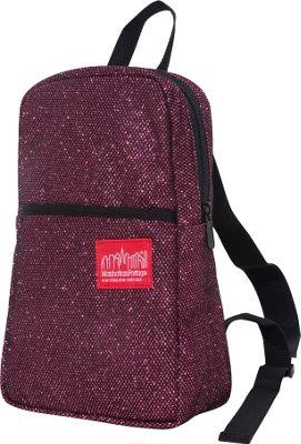 Manhattan Portage Midnight Ellis Backpack Burgundy - Manhattan Portage Fabric Handbags