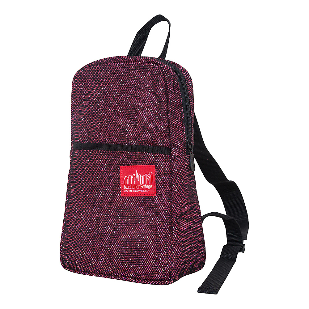 Manhattan Portage Midnight Ellis Backpack Burgundy Manhattan Portage Fabric Handbags