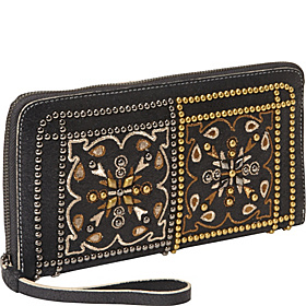 Black Knight Paolina Clutch Black Metallic