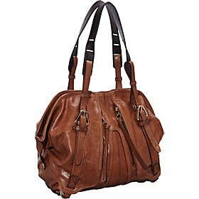 Chris Rouched Zip Top Satchel Luggage