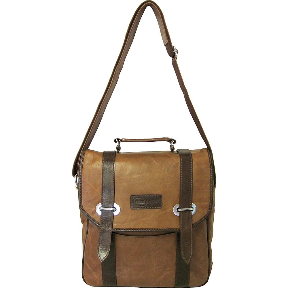 AmeriLeather Granger Two-tone Messenger Bag Brown Two-tone - AmeriLeather Other Mens Bags - Work Bags & Briefcases, Other Men's Bags