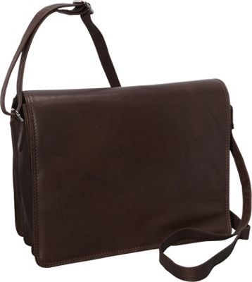 R & R Collections Large Size Front Flap Organizer Bag Brown - R & R Collections Manmade Handbags
