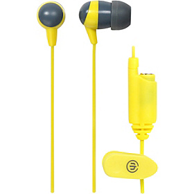 Heist In-Ear Earbuds Slate and Electric Yellow