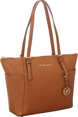 MICHAEL Michael Kors Jet Set Saffiano E/W Top Zip Tote Luggage - MICHAEL Michael Kors Designer Handbags