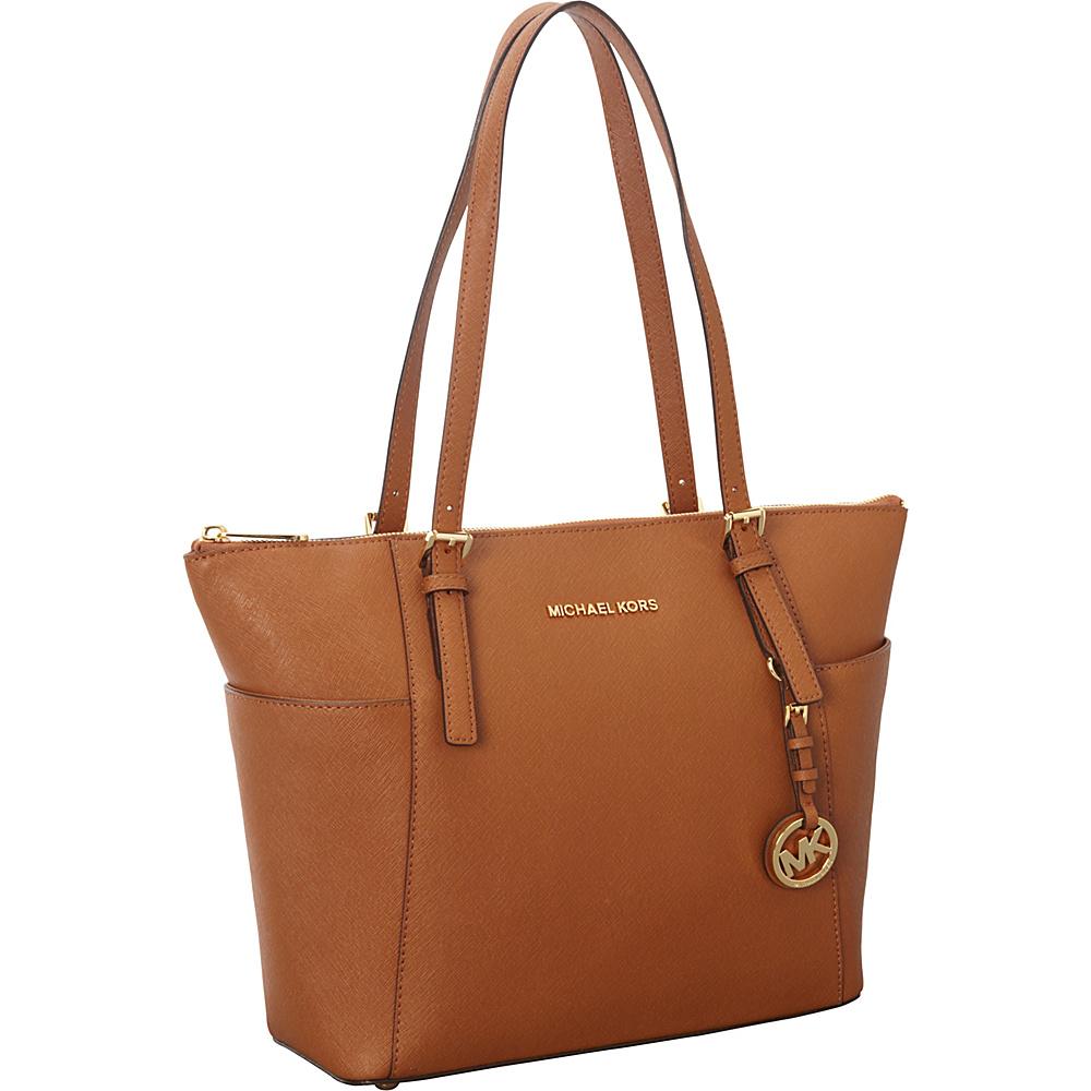 MICHAEL Michael Kors Jet Set Saffiano E W Top Zip Tote Luggage MICHAEL Michael Kors Designer Handbags