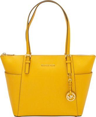 MICHAEL Michael Kors Jet Set Saffiano E/W Top Zip Tote Sun - MICHAEL Michael Kors Designer Handbags
