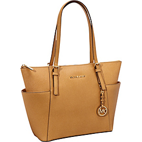 Jet Set Item EW Top Zip Tote-Saffiano Tan