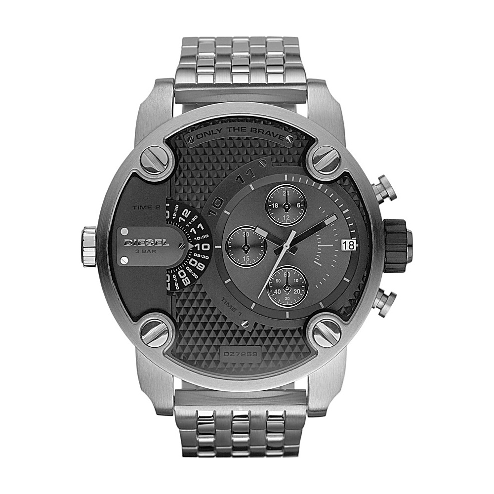 Diesel Watches Little Daddy Silver with Black Dial Diesel Watches Watches