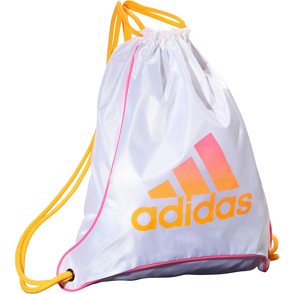 adidas Bolt Sackpack White/Solar Gold/Solar Pink - adidas Everyday Backpacks