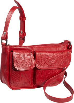 Ropin West Shoulder Bag Red - Ropin West Leather Handbags