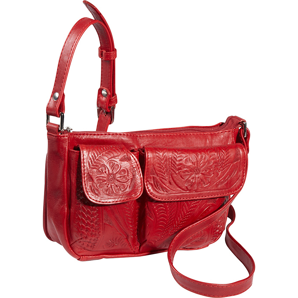 Ropin West Shoulder Bag Red Ropin West Leather Handbags
