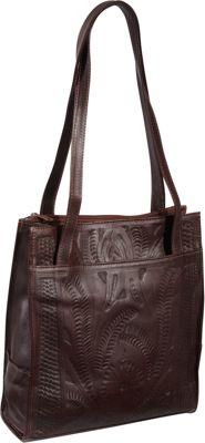 Ropin West Tote Bag Brown - Ropin West Leather Handbags