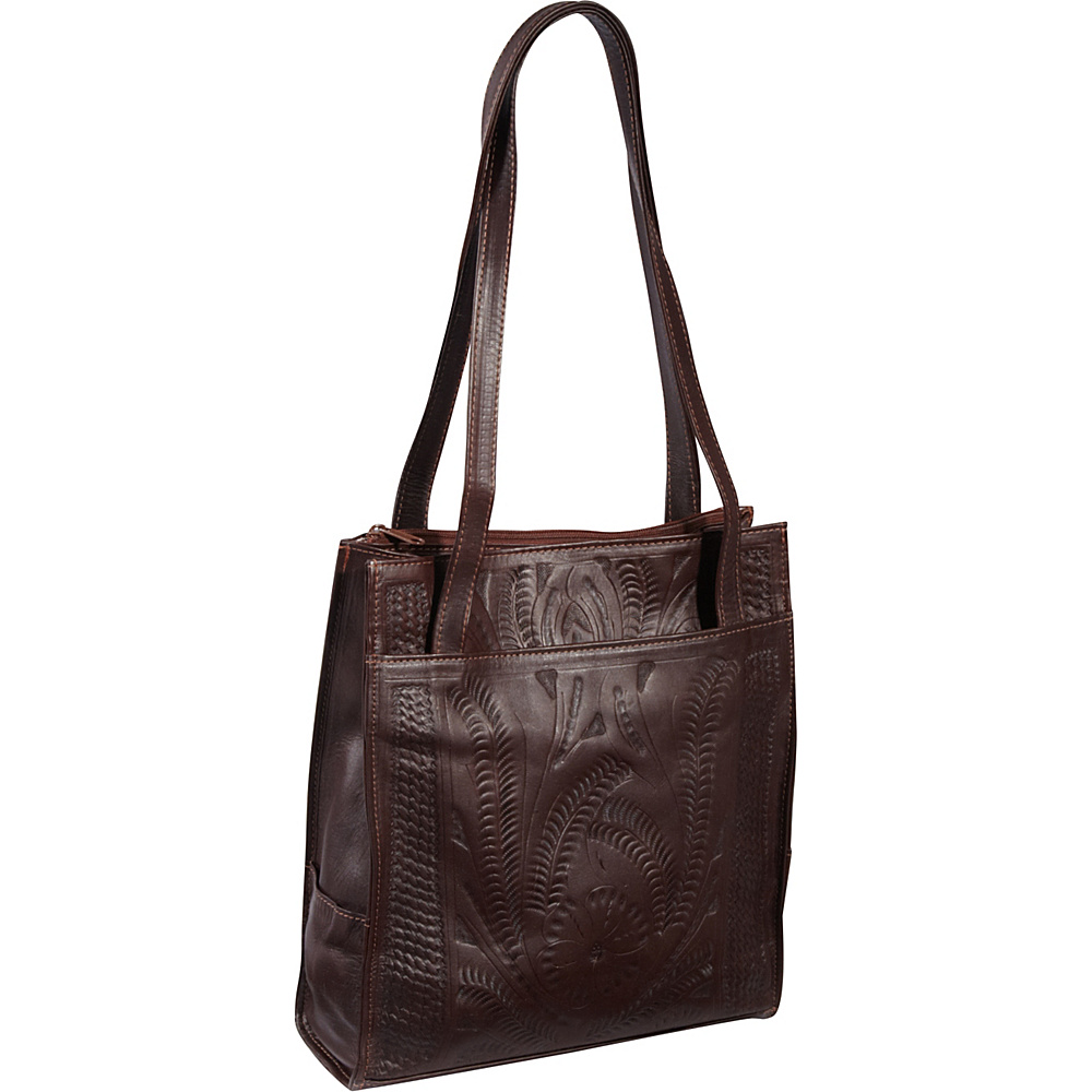 Ropin West Tote Bag Brown Ropin West Leather Handbags
