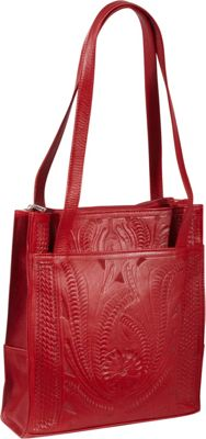 Ropin West Tote Bag Red - Ropin West Leather Handbags