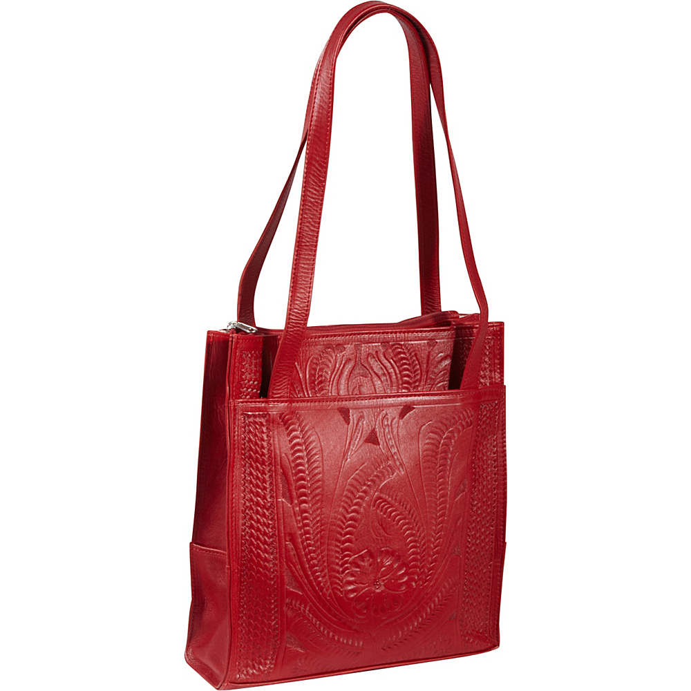 Ropin West Tote Bag Red Ropin West Leather Handbags