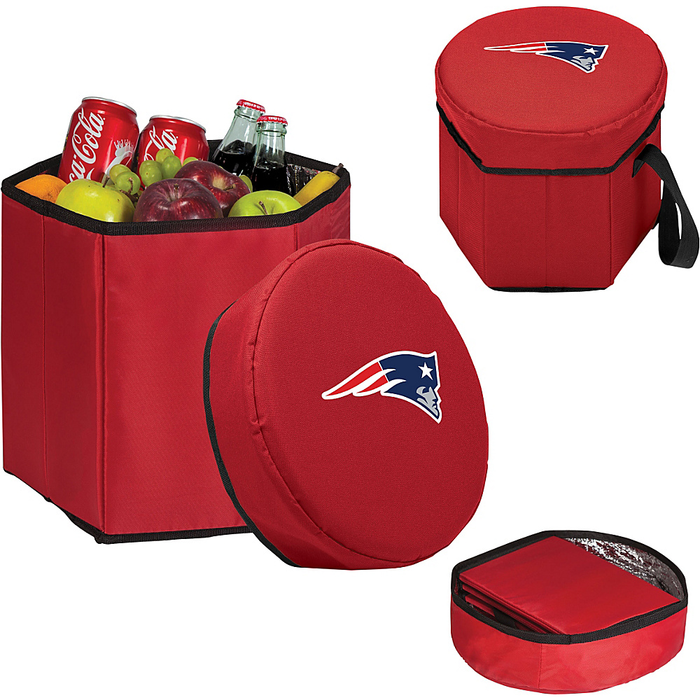 Picnic Time New England Patriots Bongo Cooler New England Patriots Red - Picnic Time Outdoor Coolers - Outdoor, Outdoor Coolers