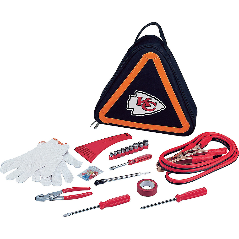 Picnic Time Kansas City Chiefs Roadside Emergency Kit Kansas City Chiefs - Picnic Time Trunk and Transport Organization - Travel Accessories, Trunk and Transport Organization