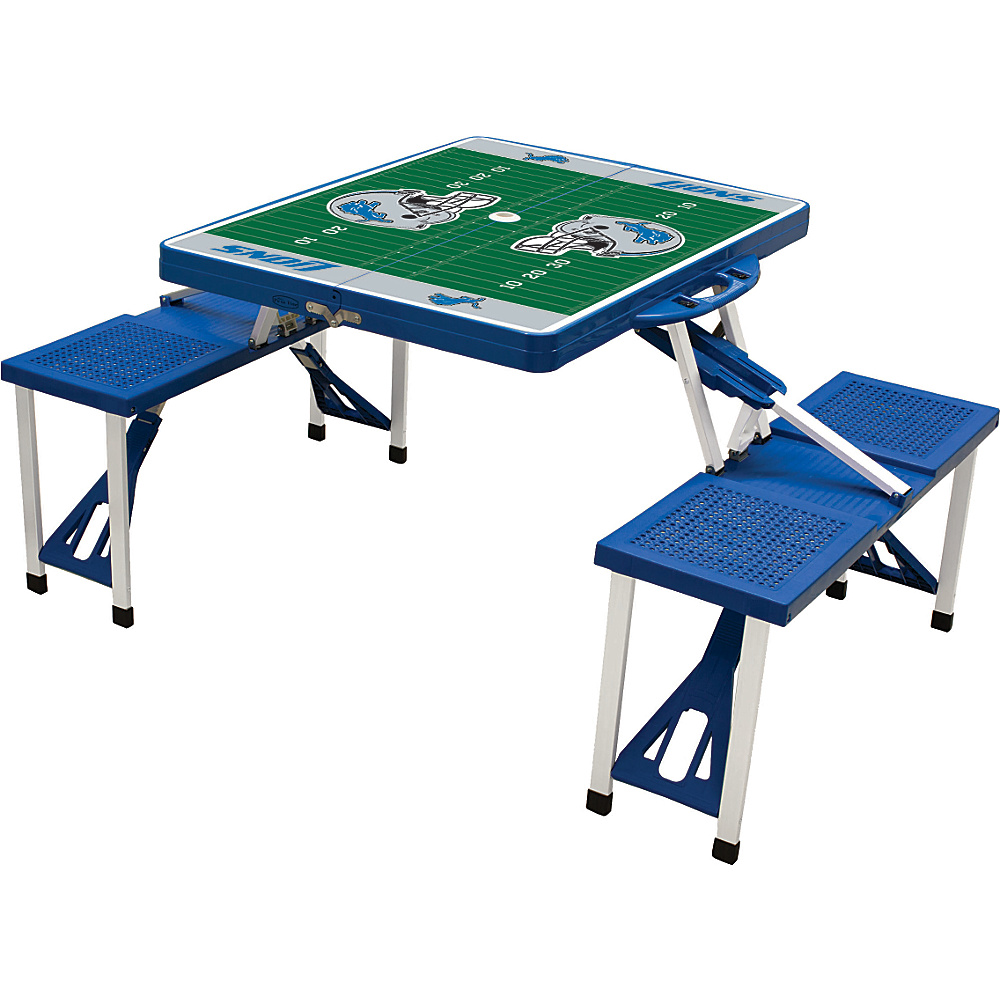 Picnic Time Detroit Lions Picnic Table Sport Detroit Lions Blue - Picnic Time Outdoor Accessories - Outdoor, Outdoor Accessories