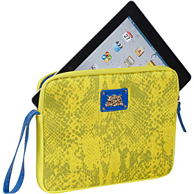 La Python Snake iPad  Wristlet  - Neoprene Yellow Diamond