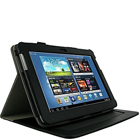 Samsung GALAXY Note 10.1 N8000 Tablet: Dual-Axis Leather Case Black