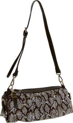 Buxton Margaret Short Shoulder Dark Brown - Buxton Leather Handbags