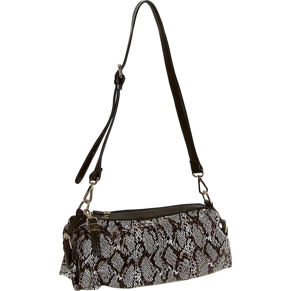 Buxton Margaret Short Shoulder Dark Brown - Buxton Leather Handbags - Handbags, Leather Handbags