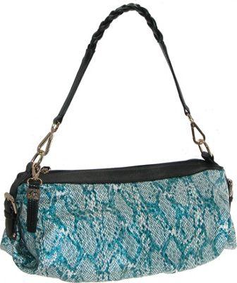 Buxton Margaret Short Shoulder Gray - Buxton Leather Handbags