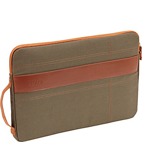 Canvas Sleeve for 13'' MacBook Pro Olive/Orange